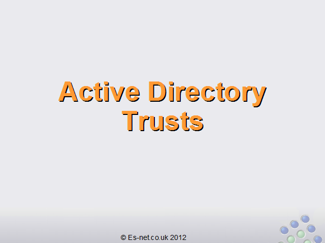 What are Active Directory Trusts