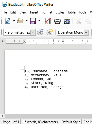 11 Link external data to a database text