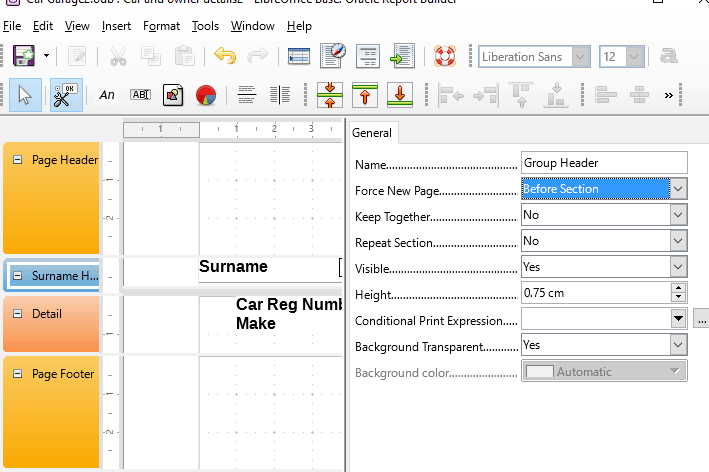 30 Force page breaks for groups in a report