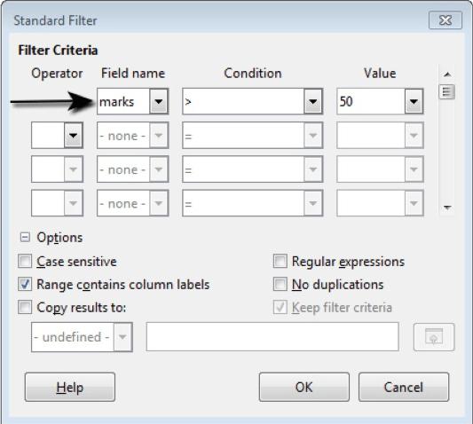 Filter Criteria 16