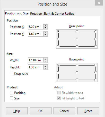 Position and Size 4