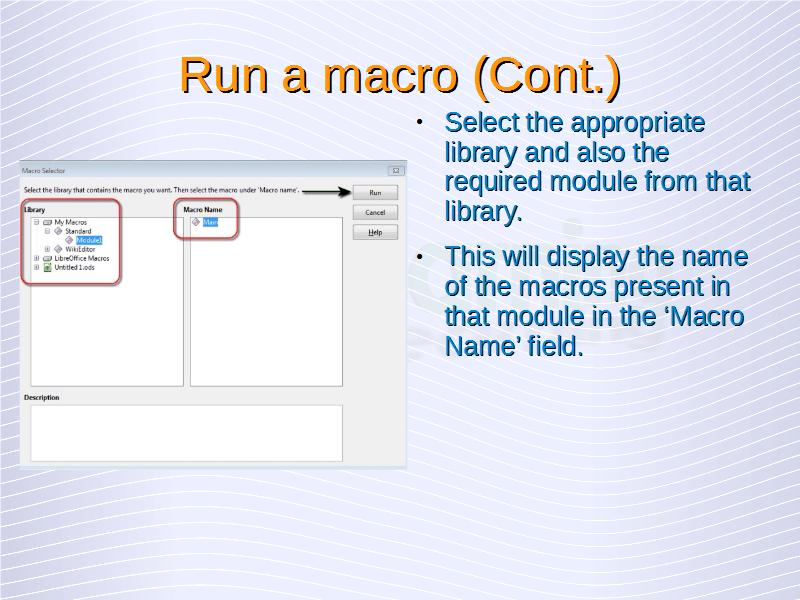 Run Macro (9)