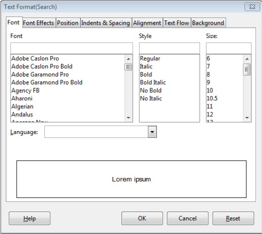 Text Format Search 4